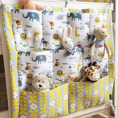 Image of Planet Gates 2 Crib Baby Bed bumper Hanging Storage Bag Multi-functional muslin Baby Cot pocket Hanging Storage Bag Baby Bedding Bumper