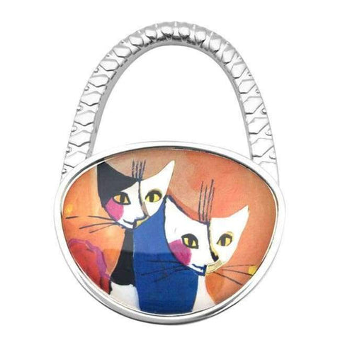 Planet Gates 2 PACGOTH Cute Cats Printing Pattern Table Hook Hang Bag Holder Bag Parts & Accessories Folding Handbag/Purse/Bag Hanger 1 PC