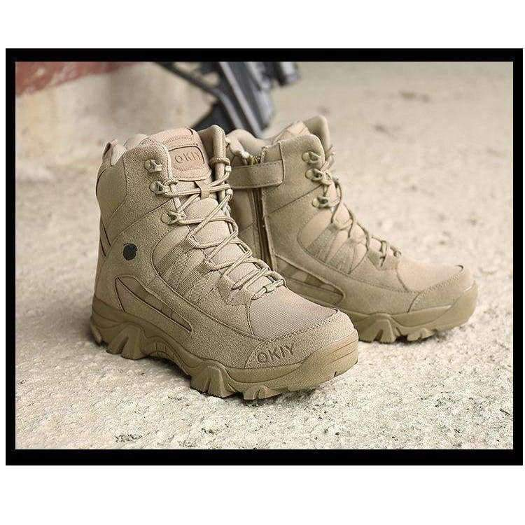 09d7fca74a8a3 2018 Winter outdoor military boots men's special forces combat boots  tactical boots desert boots Delta high to help wear militar