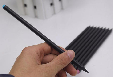 Planet Gates 20pcs/lot Black Wood Pencil HB Diamond Standard Pencil For Drawing Painting Supplies Office stationery