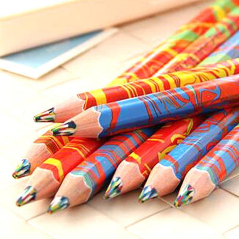 Image of Planet Gates 20pcs/lot Mixed Colors Rainbow Pencil Art Drawing Pencils Writing Sketches Children Graffiti