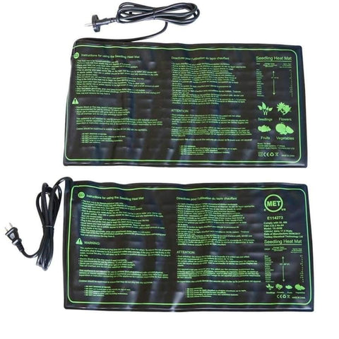 Planet Gates 220V Seedling Heat Mat Plant Seed Germination Growth Heat Mat 50x25cm 110V/220V 18W Garden Greenhouse Supplies US UK EU Plug 1 Pc