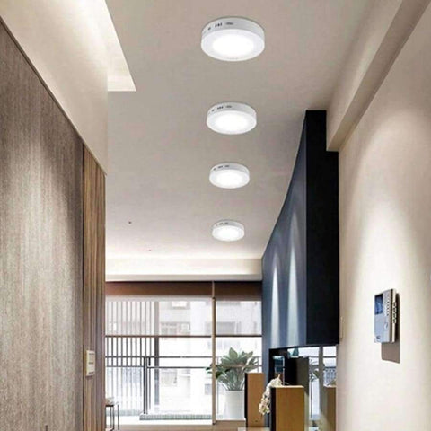 Image of Planet Gates 24W / Squard / warm white New TSLEEN Round Square Surface Ceiling Lamp LED Panel Down Light For Home Commercial Cool Warm White LED AC 85-265V