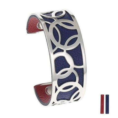 Planet Gates 25 mm 6 Legenstar Opening Cuff Bangle &Bracelet for Women Stainless Steel Bracelet Argent  Manchette Bangle Interchangeable Leather Band