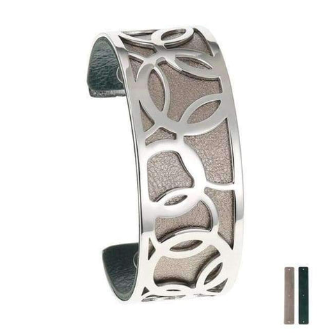 Planet Gates 25 mm 7 Legenstar Opening Cuff Bangle &Bracelet for Women Stainless Steel Bracelet Argent  Manchette Bangle Interchangeable Leather Band