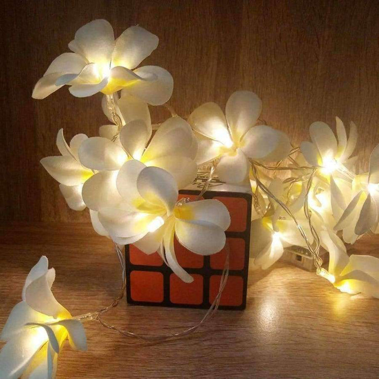 Creative Diy Frangipani Led String Lights Aa Battery Floral Holiday Lighting Event Party Garland Planet Gates