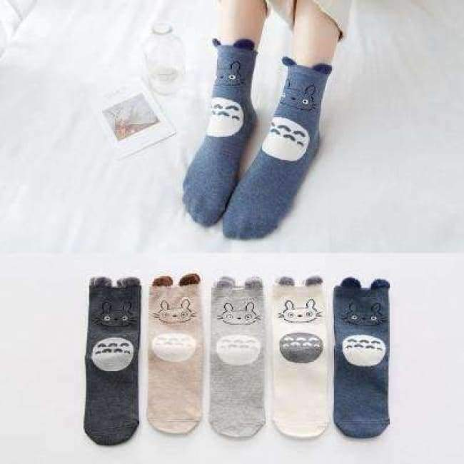5pairs Winter Autumn Women Cotton cartoon Socks Female girl Cute warm funny  Sock pattern calcetines gifts dropshipping