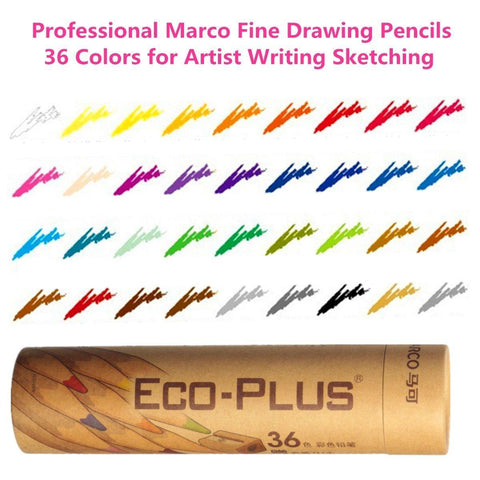 Planet Gates 36 Colors Professional Wooden Marco Fine Drawing Pencils Pens For Artist Writing Sketching