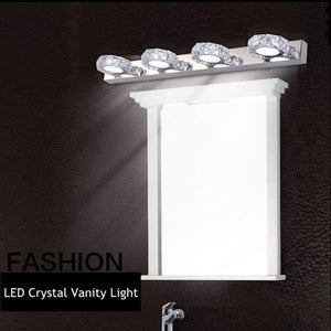 Modern LED Crystal Bathroom Wall Lamp Fixture Mirror Light Make up Vanity Ligh 3/4 Head Noble Design High Efficiency Energy Save