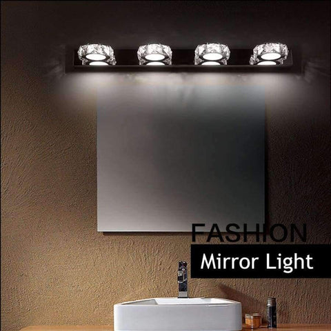 Planet Gates 4 Head Modern LED Crystal Bathroom Wall Lamp Fixture Mirror Light Make up Vanity Ligh 3/4 Head Noble Design High Efficiency Energy Save
