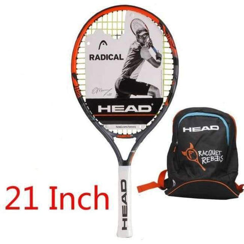 Planet Gates 4 Junior Carbon Fiber Tennis Racquet for Kids Youth Childrens Training Rackets With bag cover 21/23/25 Inch Raquete De Tenis