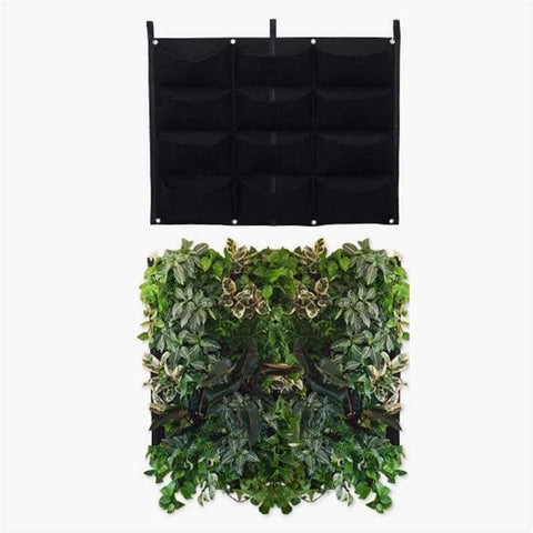 Planet Gates 4 Vertical Pockets Felt Cloth Wall Hanging Grow Bag 4 Styles Black Vertical Garden Planter Flower Pot Bag Vegetables Planting Bags Garden Supplies