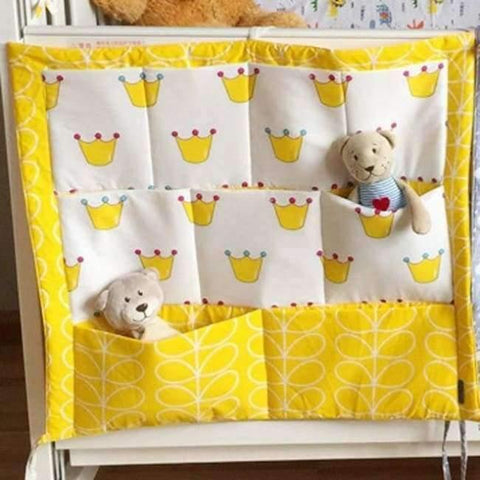 Image of Planet Gates 5 Crib Baby Bed bumper Hanging Storage Bag Multi-functional muslin Baby Cot pocket Hanging Storage Bag Baby Bedding Bumper