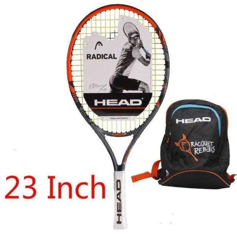Planet Gates 5 Junior Carbon Fiber Tennis Racquet for Kids Youth Childrens Training Rackets With bag cover 21/23/25 Inch Raquete De Tenis