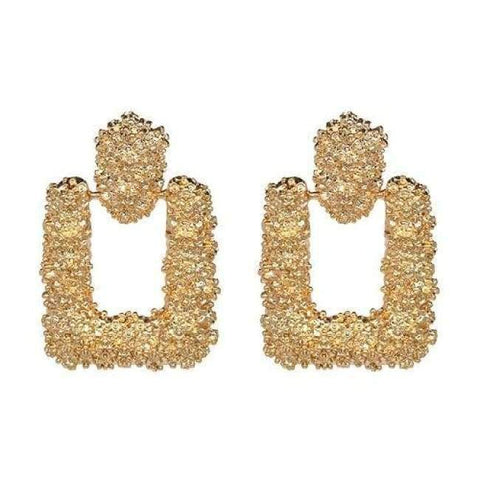 Planet Gates 51109-GD JUJIA good quality wholesale women statement earring fashion geometric metal Earrings for women jewelry earring