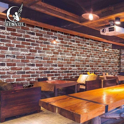 High Quality 3d Brick Wallpaper Stone Wall Paper Faux Brick Wallpaper 3d Living Room Wallpaper Sofa Tv Background