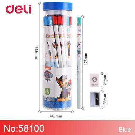 Planet Gates 58100-blue 36 pcs Paw Patrol Wood Pencil Sets Student Writing stationery supplies safe school Hexagonal