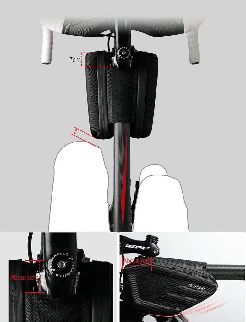 Waterproof Bike Bag Frame Front Head Double IPouch 6.2 Inch Touch Screen Bicycle