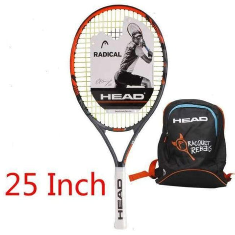 Planet Gates 6 Junior Carbon Fiber Tennis Racquet for Kids Youth Childrens Training Rackets With bag cover 21/23/25 Inch Raquete De Tenis