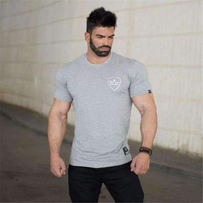 GYKZ 2018 Mens Summer Gyms Casual T Shirt Fashion Gyms Fitness Bodybuilding  Muscle Male Short Shirts Cotton Tee Tops Clothing