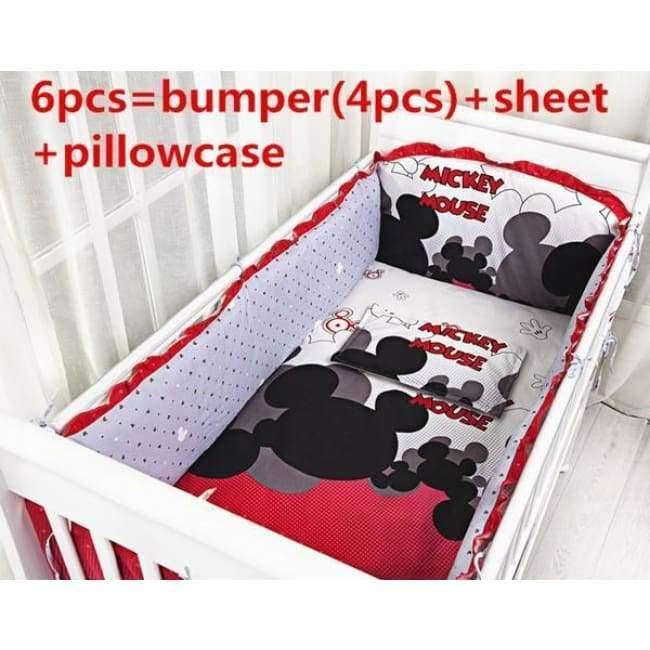 Planet Gates 6pcs Cartoon 6/7/9PCS Crib Bedding Sets,Kids Accessory Newborn Baby Bed Set,