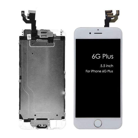 Planet Gates 6S PLUS White LCD Touch Screen Digitizer For iPhone 6 6s 6 Plus 6s Plus+Home Button+Front Camera+Ear Speaker Assembled