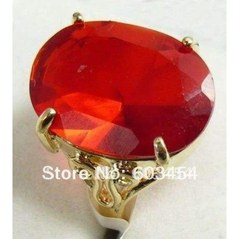 Image of Planet Gates 7 / Red Hot sell Ellipse Red Zircon Ring Size: 6.7.8.9/ S 1Pcs -Top quality free shipping