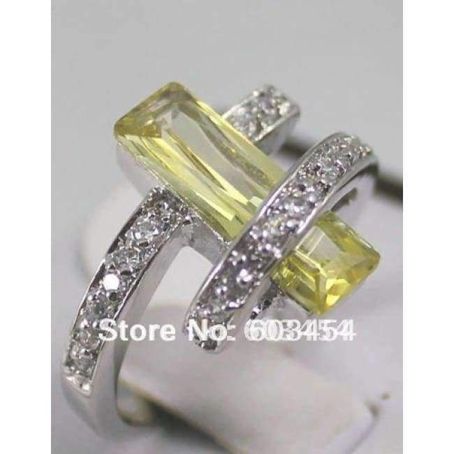 Planet Gates 7 / White Unique Vogue Style Crystal Jewelry ring 11 Colors Free Optional size 6,7,8,9 / S 1pcs