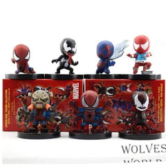 spider man different actions PVC figure figures set of 7pcs toy action Figurine