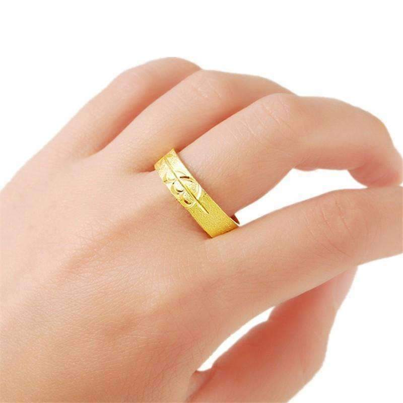 Planet Gates 8 Free Shipping New Sale 24K Gold Color Rings For Women Circle Broad Alianca S Wedding Jewelry R016