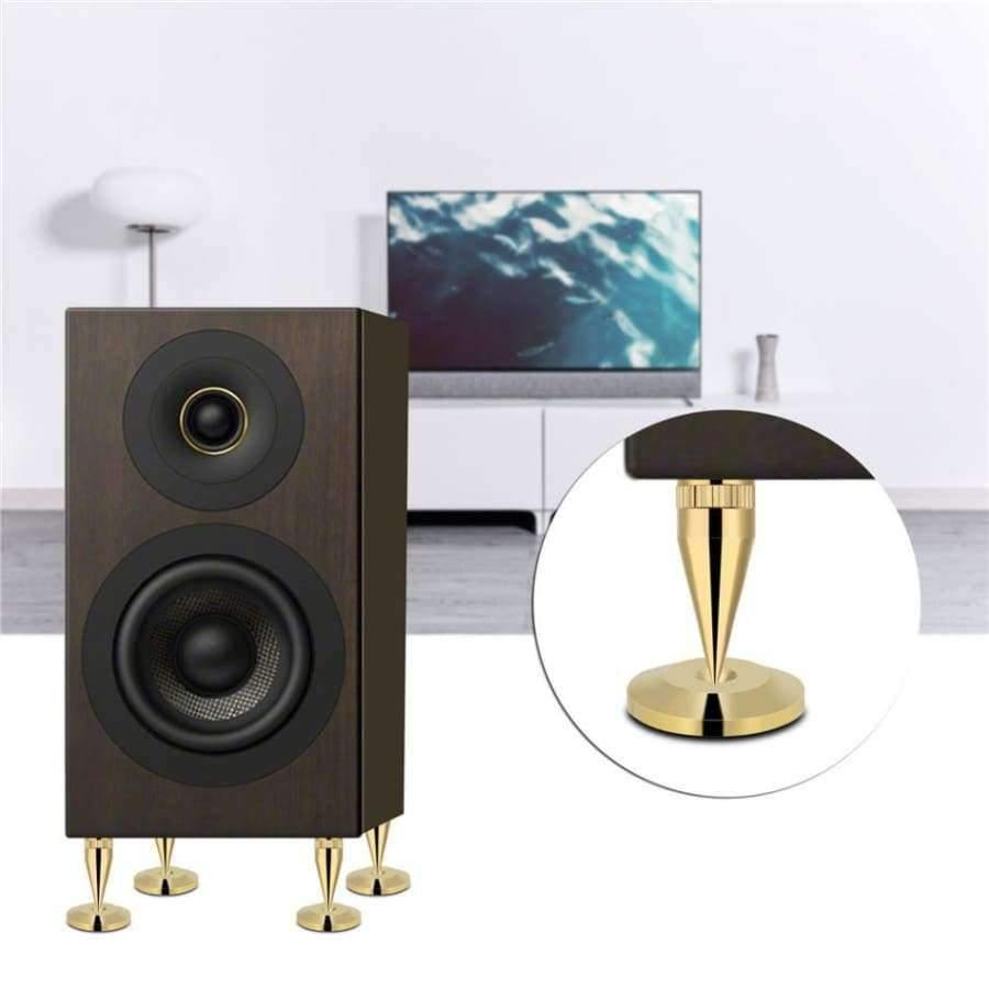 8 Pairs 6 x 36MM Copper Speaker Spike Isolation Stand + Base Pad Feet Mat  speaker isolation speaker isolation pads 2018