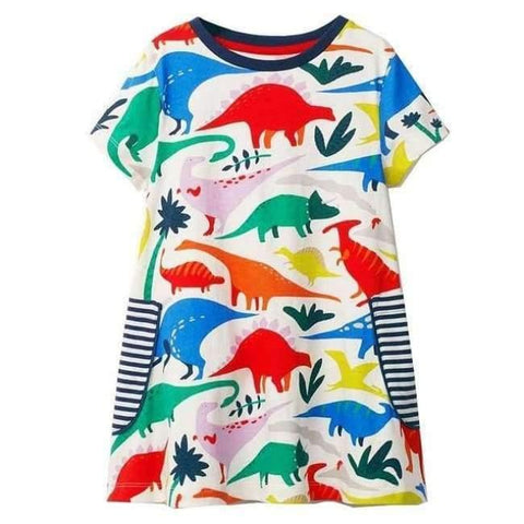 Planet Gates 82 / 18M Girls Summer Dress  Brand Animal Unicorn Princess Dress Children Costume for Kids Clothes Flamingo Baby Dress 1-6T