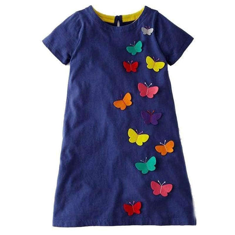 Planet Gates 83 / 2T Girls Summer Dress  Brand Animal Unicorn Princess Dress Children Costume for Kids Clothes Flamingo Baby Dress 1-6T