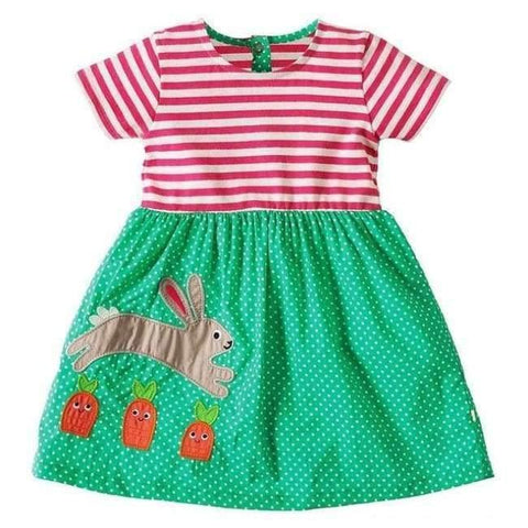Planet Gates 85 / 18M Girls Summer Dress  Brand Animal Unicorn Princess Dress Children Costume for Kids Clothes Flamingo Baby Dress 1-6T