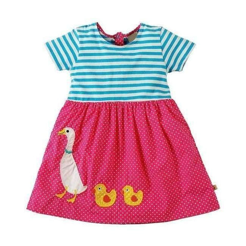 Planet Gates 88 / 18M Girls Summer Dress  Brand Animal Unicorn Princess Dress Children Costume for Kids Clothes Flamingo Baby Dress 1-6T