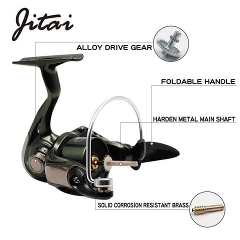 Planet Gates 9 / 2000 Series Spinning Reel with Free Spare Metal Spool Smooth 5.2:1 Gear Ratio 9+1BB Left right Hand Fishing Reel 10BB Fishing Coils
