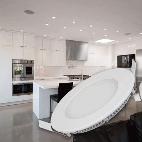 Image of Planet Gates 9W / Round warm white TSLEEN Round/Square Recessed Ceiling Lamp LED Panel Down Lights For Home Commercial Cool Warm White LED AC 85-265V