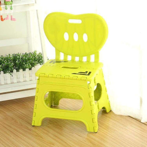 Planet Gates A Multifunctional folding stool plastic backrest portable home chair creative kindergarten small stool children's furniture