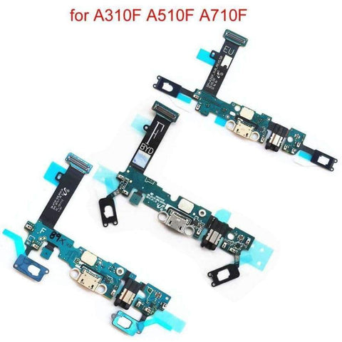 Planet Gates A310F Charging Port For Samsung Galaxy A3 A310F A5 A510F A7 A710F Charge Connector Dock Socket Sensor Headphone Jack Flex Cable