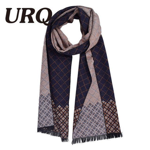Planet Gates A3A18909 blue Man Checked Winter Scarves Fashion style Long Cashmere scarf soft warm Wraps Casual style