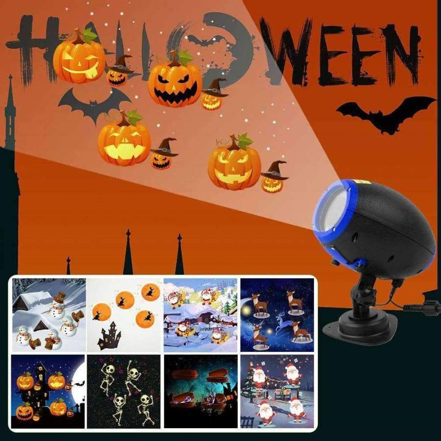 Christmas Projector.Halloween Projector Light Outdoor Waterproof Landscape Lighting Christmas Laser Led Projector Lights For Party Holiday Wireless