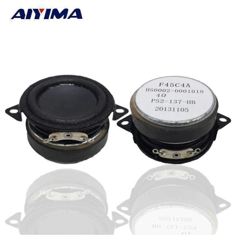 Planet Gates AIYIMA 2Pcs 1.5Inch Audio Portable Bass Speakers 4Ohm 5-10W DIY For Bluetooth Speaker Home Theater Accessories