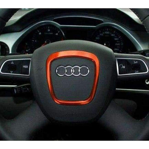 Image of Planet Gates Arange Car-styling Car steering stainless steel wheel decorative circle sequins 3D sticker For Audi A4 A5 A6 Q7 Q5 Accessories Refit