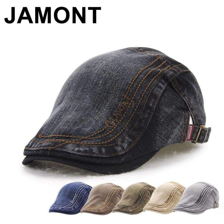 cd51134de2f33 Tap to expand · Jamont Mens Vintage Cotton Newsboy Cap Casual Adjustable  Peaked Hats Boina Flat Caps Duckbill Visor British