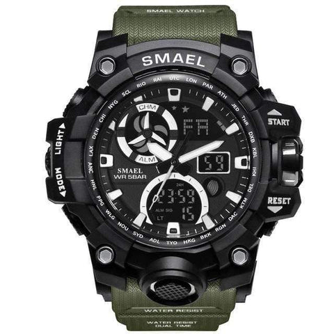 Planet Gates Army Green Watches Brand Digital Backlight Relogio Masculino Watch Men Military LED Wristwatches 1545C Military Watch Men Waterproof
