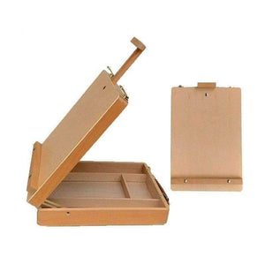 Planet Gates Artist Wooden Table Box Easel Desktop Laptop Easel Painting Hardware Accessories for Drawing School Student Artist Supplies