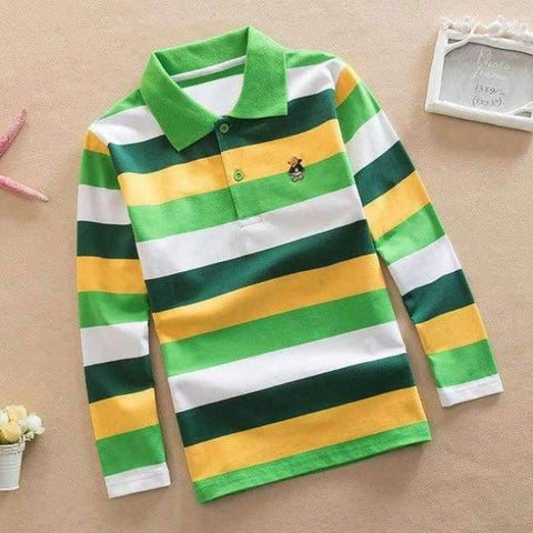Image of Planet Gates as picture 1 / 3T Teenage Boys Shirt Autumn Children Clothing Fashion Tee Shirts Boys Cotton Tops Striped Kids Clothes 4 8 12 15Y