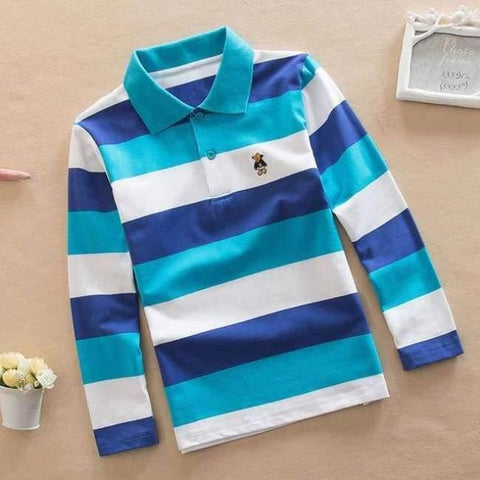 Image of Planet Gates as picture / 3T Teenage Boys Shirt Autumn Children Clothing Fashion Tee Shirts Boys Cotton Tops Striped Kids Clothes 4 8 12 15Y