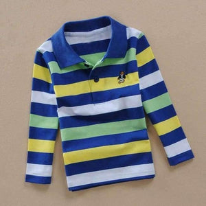 Teenage Boys Shirt Autumn Children Clothing Fashion Tee Shirts Boys Cotton Tops Striped Kids Clothes 4 8 12 15Y
