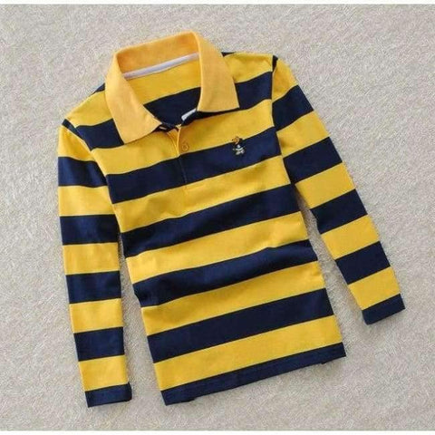 Image of Planet Gates as picture 5 / 3T Teenage Boys Shirt Autumn Children Clothing Fashion Tee Shirts Boys Cotton Tops Striped Kids Clothes 4 8 12 15Y
